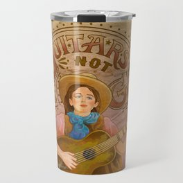 Guitars Not Guns Travel Mug