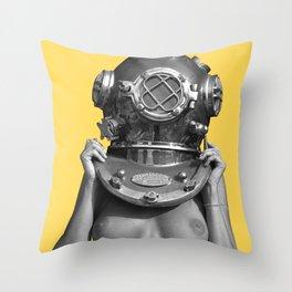Diver UP - Aspen Gold Throw Pillow