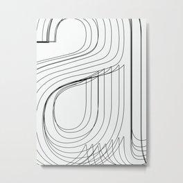 Helvetica Condensed 002 Metal Print
