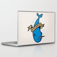 narwhal Laptop & iPad Skins featuring Narwhal by Katie Bell