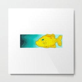 Yellow Fish (Babel Right) Metal Print