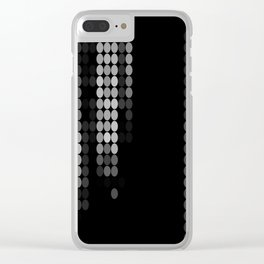 Shades Of Grey Dot Pattern - Rustic Glam Clear iPhone Case