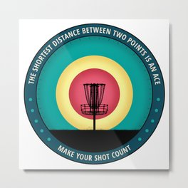 Make Your Shot Count Metal Print