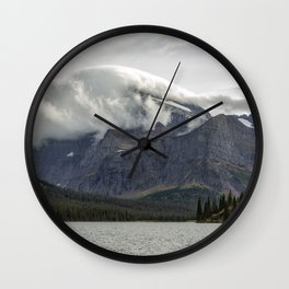 Clouds Over Mt Gould Wall Clock