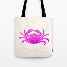 Nautical Pink Crab Linen Tote Bag