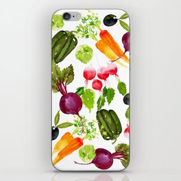 Mixed Vegetables iPhone Skin