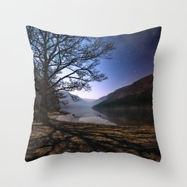 Night sky in Glendalough, Wicklow Mountains - Ireland Print (RR 266) Throw Pillow