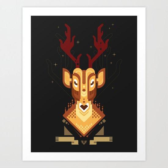 Deer trophy Art Print