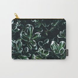 Green & White Leaves Carry-All Pouch