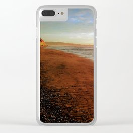 Wonderful Winter Day at Torrey Beach by Reay of Light Clear iPhone Case