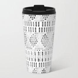 Aztec I Pattern Black and White Travel Mug
