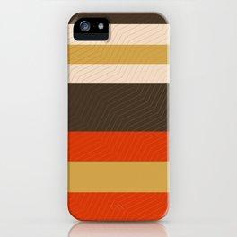 Retro Zigzag Geometric Pattern iPhone Case