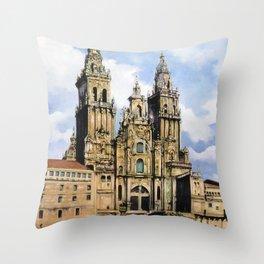 Catedral de Santiago de Compostela/Santiago de Compostela Cathedral Throw Pillow