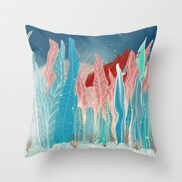 Playing hide and seek Throw Pillow