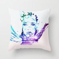 splash Throw Pillows featuring Splash by CLE.ArT.