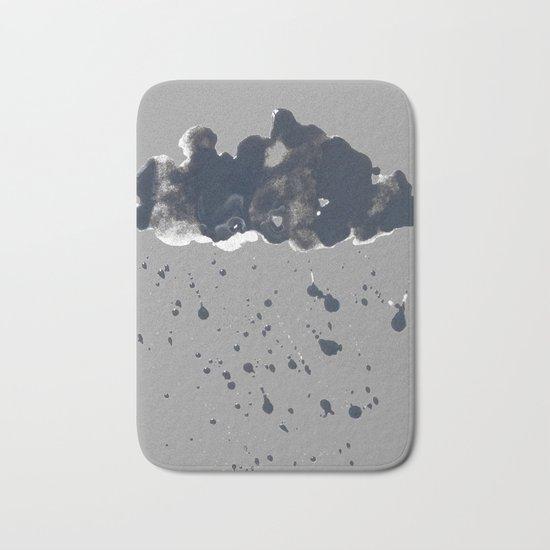 Inky Oil Cloud of Radiation Bath Mat