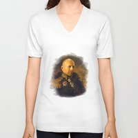 replaceface V-neck T-shirts featuring Bruce Willis - replaceface by replaceface