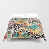 into the wild Duvet Covers featuring Wild by RIZA PEKER