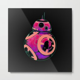 BB-8 Pop Pinks and Coral Metal Print