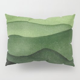 Watercolor layers of mountains Pillow Sham