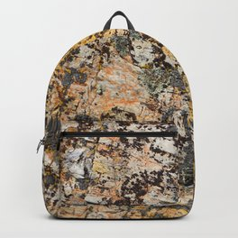 Textured Gold and Gray Stone Photograph Backpack