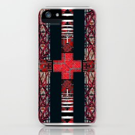 262  black white red iPhone Case