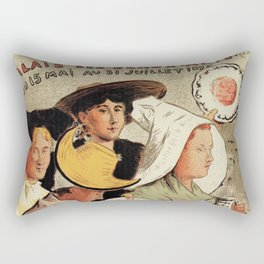 French belle epoque pottery expo advertising Rectangular Pillow