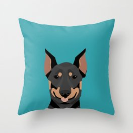 Doberman dog breed doberman pinscher gift dog owner pet portraits custom dog breed gifts  Throw Pillow