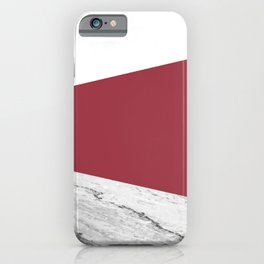 Marble Jester Red Geometry iPhone Case