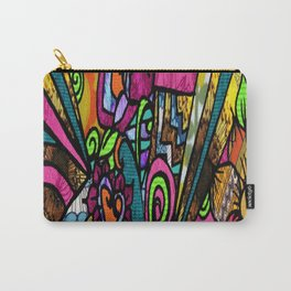 Vibrant Retro Vibes Carry-All Pouch