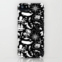 High Seas Adventure // Black iPhone Case
