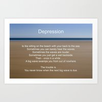 depression Art Prints featuring Depression by PICSL8