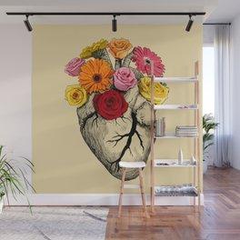 Flower Heart Wall Mural