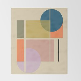 Modern geometric shapes Throw Blanket