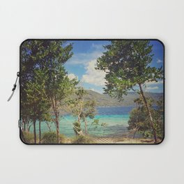 Hammock by the Ocean Tropical Sea Vibe Laptop Sleeve
