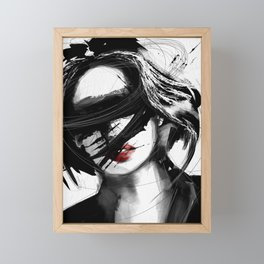 i see no one digital art painting figuratif abstract Framed Mini Art Print