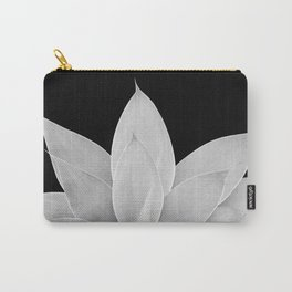 Gray Agave on Black #1 #tropical #decor #art #society6 Carry-All Pouch
