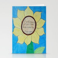 stevie nicks Stationery Cards featuring The gardens of Buckingham and Nicks by Rocker-Fan-Art
