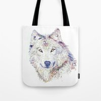 """hobbes Tote Bags featuring """"Homo homini lupus est."""" by Cristian Blanxer"""