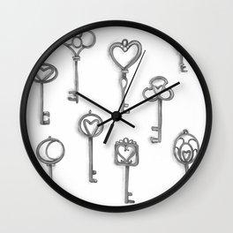 Black and white keys Wall Clock