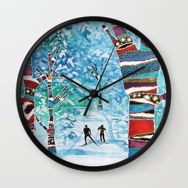 Forelsket ('Falling in Love' in Norwegian) Wall Clock