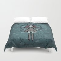 witch Duvet Covers featuring Witch ☾ by A+A Noisome Art