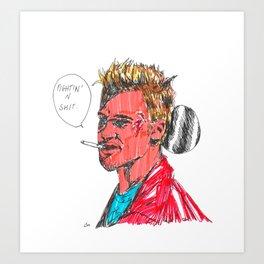 BRAD SH*T Art Print