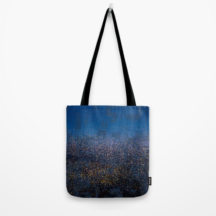 Downtown in Drizzle Tote Bag