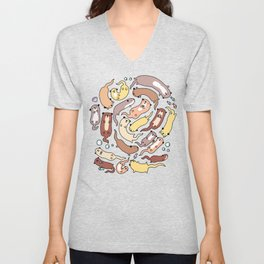 Adorable Otter Swirl Unisex V-Neck