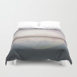 Surreal Moon Over Calm Waters Duvet Cover