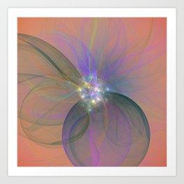 Fairy Blossom Fractal Art Print