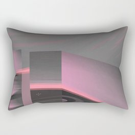 Claraboya, Geodesic Habitacle, Pink neon room Rectangular Pillow