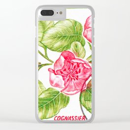Branch of a Quince tree in Spring Clear iPhone Case