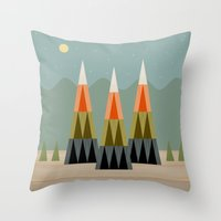 clear Throw Pillows featuring Clear Skies by Tammy Kushnir